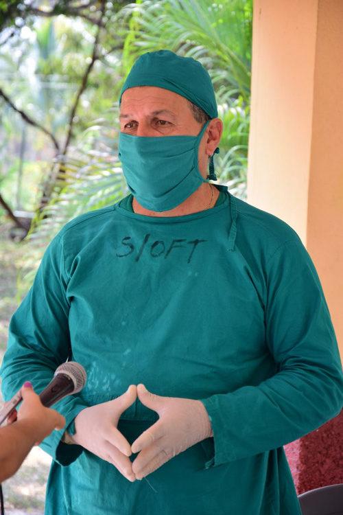 Lic. en enfermería Daniel Díaz Marín, responsable del centro de aislamiento.