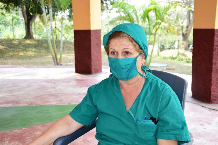 Zoila Concepción, enfermera administrativa de la villa.