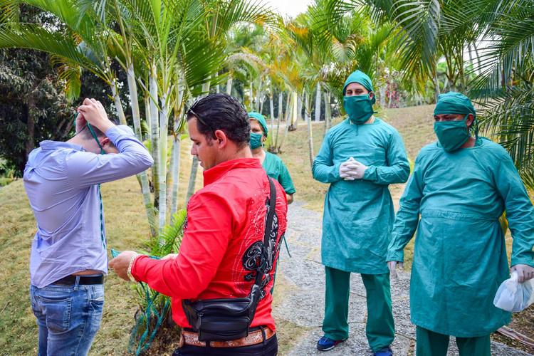 En el centro de aislamiento de Aguas Claras se garantizan las medidas de seguridad para el recibimiento de los huéspedes.