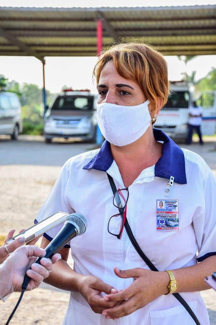 Yanet Ferro, enfermera.