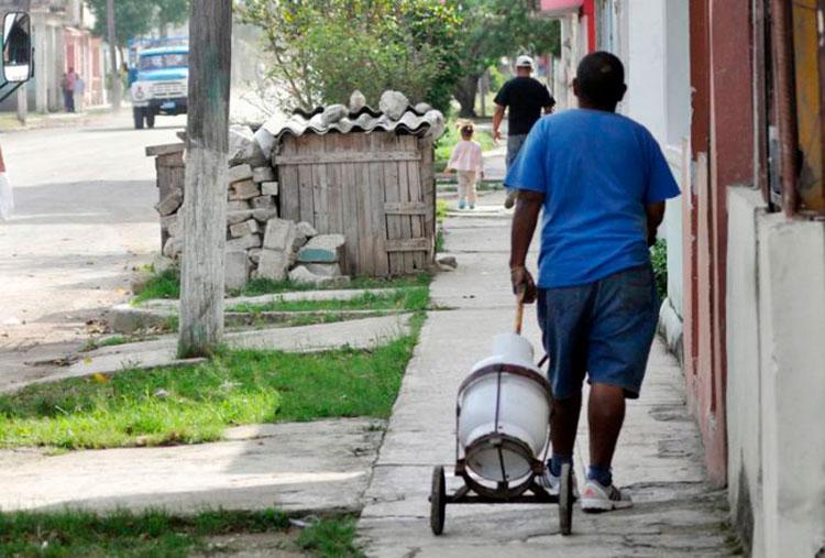 Cilindro sde Gas Licuado en Pinar del Río, Cuba