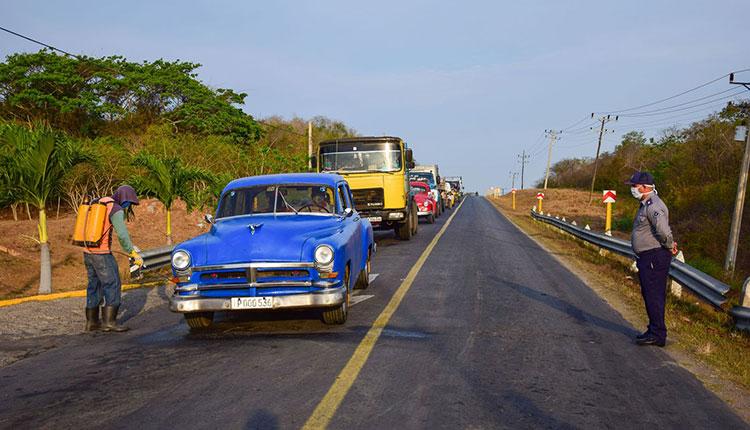 El punto de control sanitario Las Catalinas monitorea los vehículos provenientes desde y hasta Guane, Sandino y Mantua