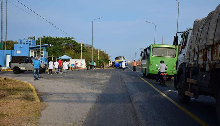 Punto de control en el municipio Guane, Pinar del Río