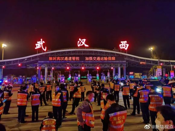 La ciudad china de Wuhan tras el levantamiento de la cuarentena. / Foto: Twitter/@Monkey11455108.