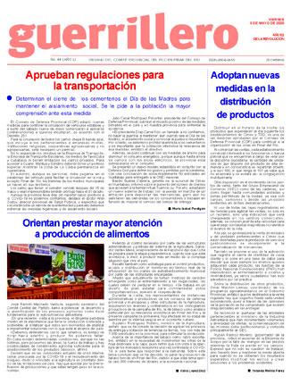 Edición Impresa de 08-05-2020