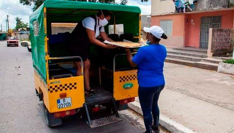 Triciclos en Pinar del Río apoyan labores de distribución de alimentos