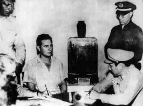 Fidel Castro cuando fue arrestado en julio de 1953, luego del ataque al cuartel Moncada.