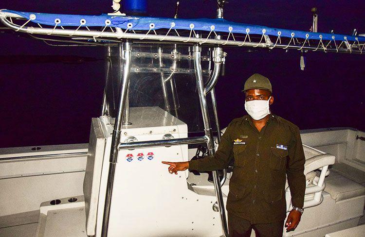 Yoslán Pozo Sánchez, jefe de escuadrilla de Tropas Guardafronteras en Pinar del Río.