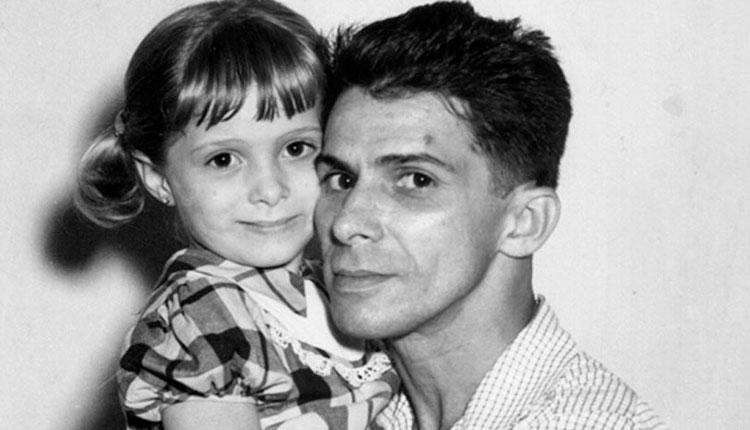 El fotógrafo Chenard junto a su hija
