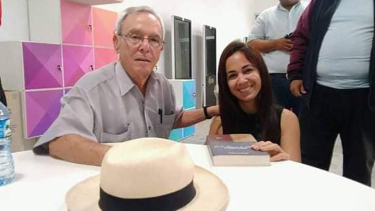 Dayelin Machin y Eusebio Leal