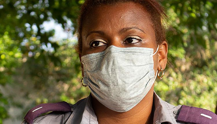 Yusleidys Dominguez Diaz, jefa de sector del CP Cuba Libre / Foto: Jaliosky Ajete Rabeiro