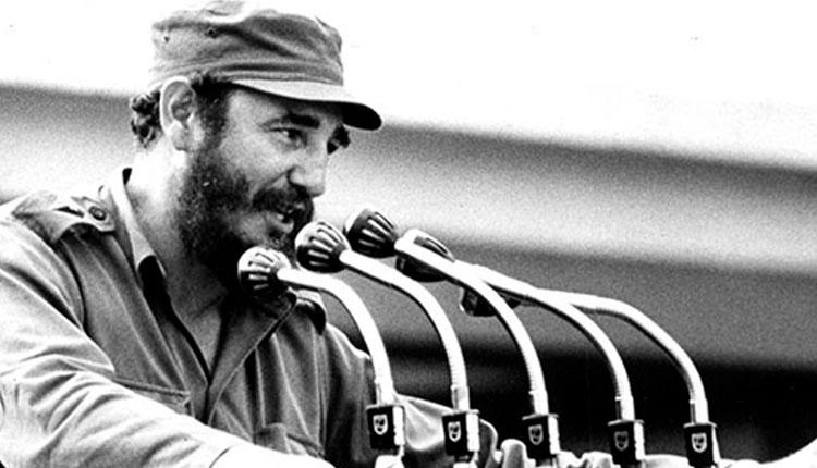 Fidel Castro Ruz, en la inauguración de la escuela secundaria básica en el campo, Comandante Pinares, Sandino (áreas de Guane, en esa época), Pinar del Río el 20-09-1971