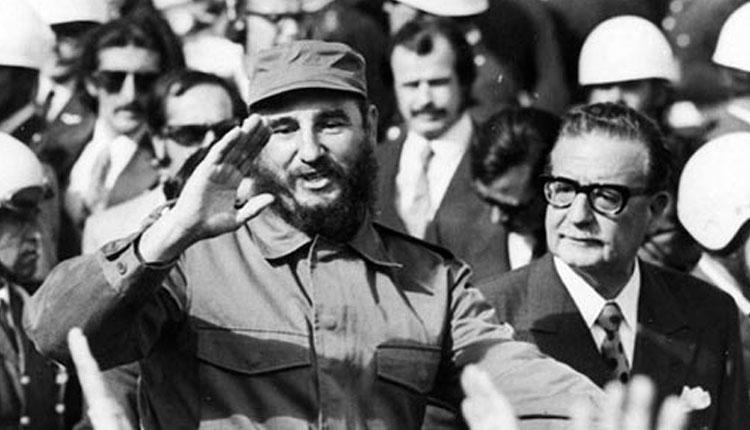 Fidel Castro y Allende en Chile / Foto tomada de internet.