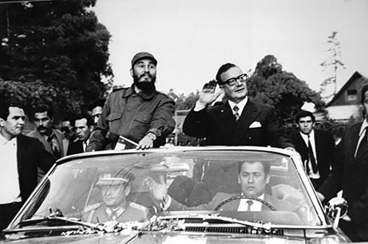 Fidel Castro en Chile.