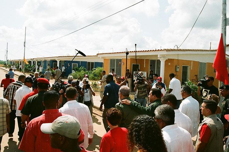Fidel y Chávez en Sandino, Pinar del Río, el 21 de agosto del 2005, para la celebración del programa de televisión Aló Presidente y la inauguración de Villa Bolívar.