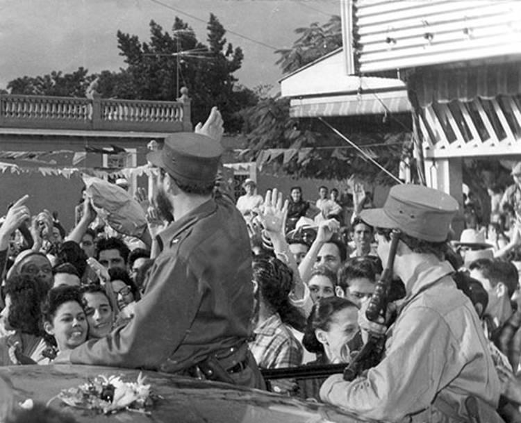 Fidel Castro Ruz en su entrada a Pinar del Río, después del triunfo de la Revolución, el 17 enero 1959.