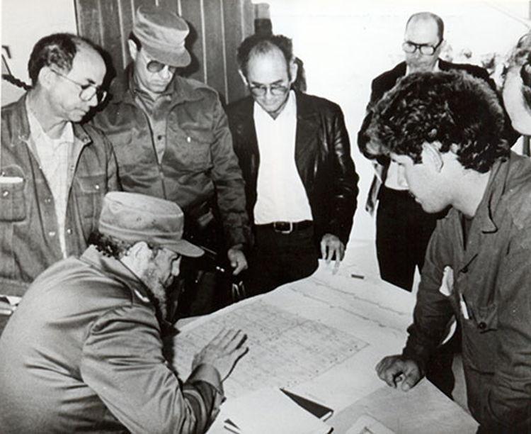Fidel Castro Ruz, recorrido por Pinar del Río, el 13-03-1989
