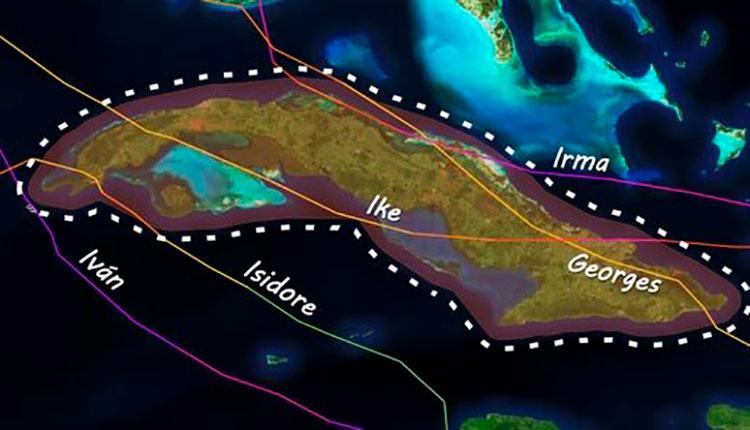 Desde 1995, cinco huracanes han azotado el archipiélago cubano en septiembre.