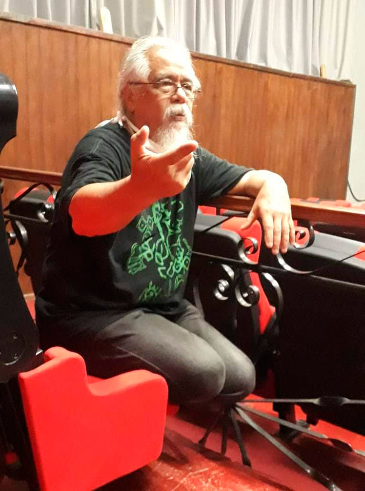 Reinaldo León, director de Teatro de la Utopía, afirma que el corazón de la cultura artística es la enseñanza / Foto: Ángel Felipe Machín