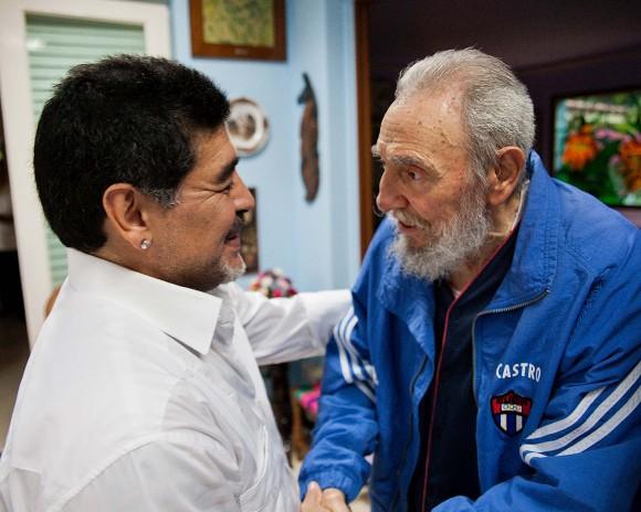 Fidel y Maradona