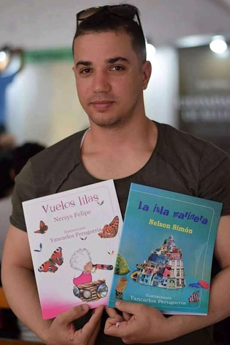El joven ilustrador Yan Carlos Perugorría fue uno de los artistas que más iniciativas tuvo en las redes para acercarse al público.