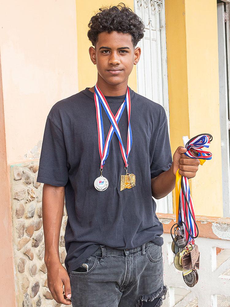 Gualberto Suárez Quintana a sus 15 años, sueña con representar a Cuba en unos Panamericanos.  / Foto: Jaliosky Ajete