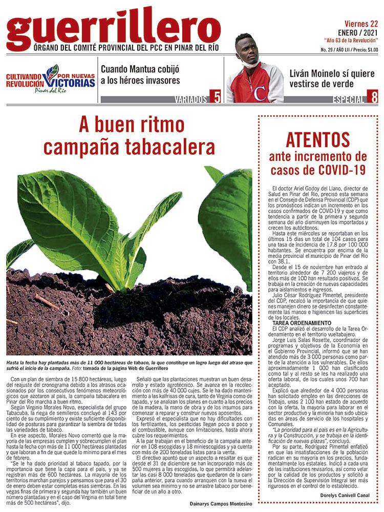 Página 1 del Periódico Guerrillero-2021-01-22