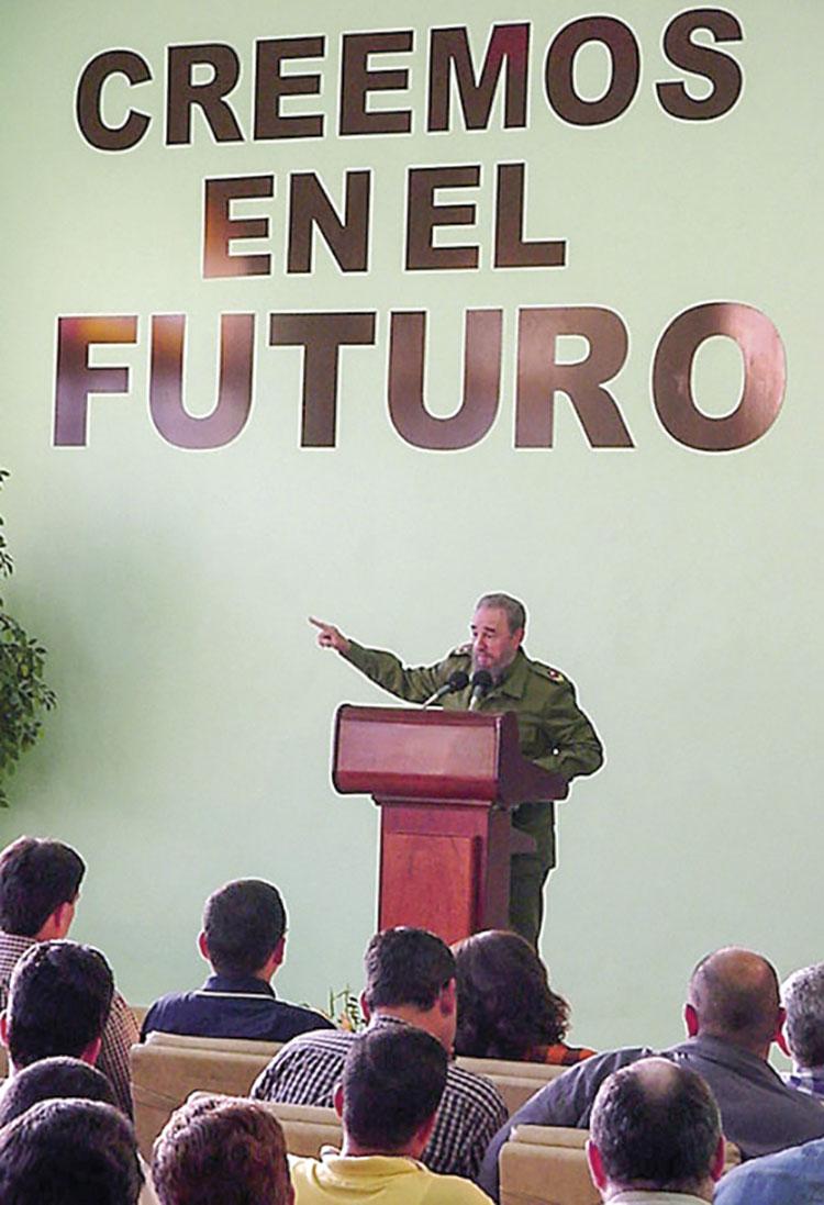 Fidel significó la importancia de esta institución durante su alocución en la reapertura del Palacio de Computación