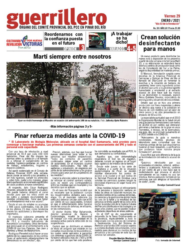 Edición impresa: 29 de enero de 2021
