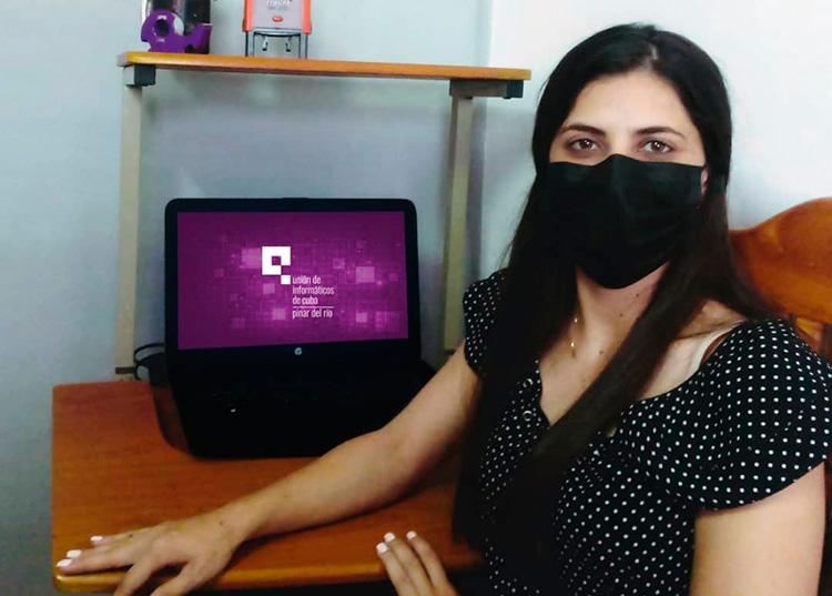 Anabel León. Unión de Informáticos de Cuba. Filial Pinar del Río