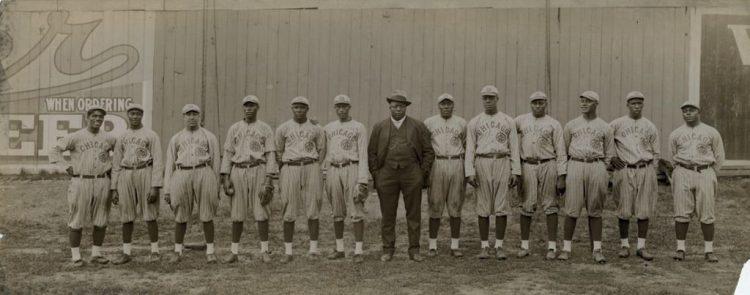 Andrew Foster (Rube), con el Chicago American Giants.