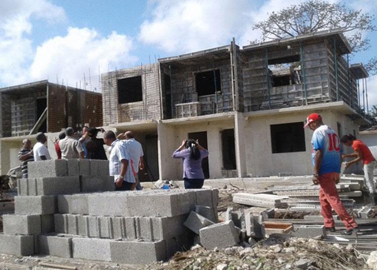 Construcción de viviendas.