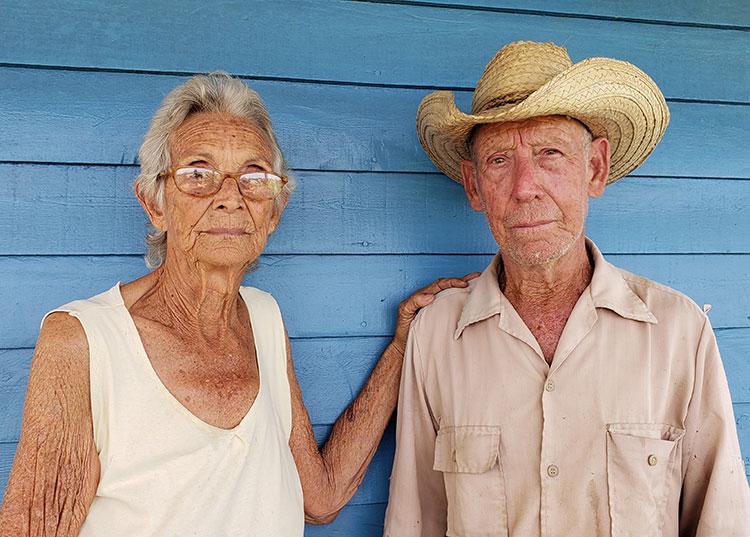 Mongo junto a su esposa. / Foto: Pedro Lázaro Rodríguez Gil