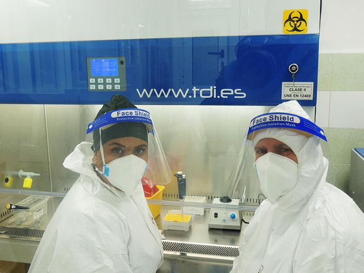 El personal del Laboratorio de Biología Molecular ha procesado cerca de 20 000 muestras PCR desde la puesta en marcha del centro.