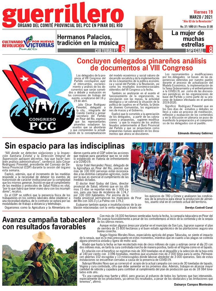 pagina portada edicion 19 de marzo 2021