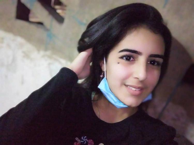 Una de las fotos que Ana Laura se tomó en el hospital de campaña para enviarlas a su mamá y abuela.