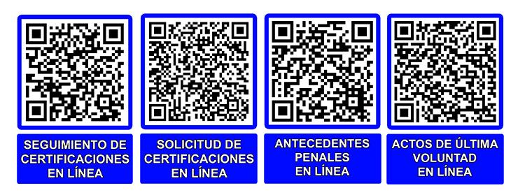 Códigos QR de la Dirección Provincial de Justicia