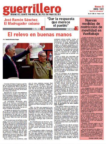 Periódico Guerrillero del 23 de abril de 2021