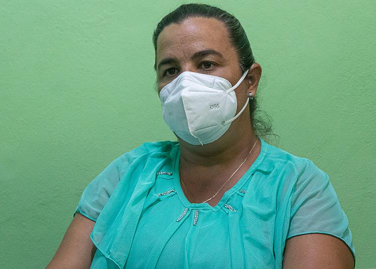 """María Eloísa Cruz León: """"Estoy segura que Dios acompaña y pelea por el pueblo cubano"""" . / Foto: Jaliosky Ajete Rabeiro"""