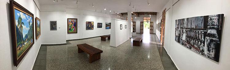 Vista de la exposición virtual Maestros, en ArtSteps, dedicada a nueve artistas fundadores del FCBC en Pinar del Río.
