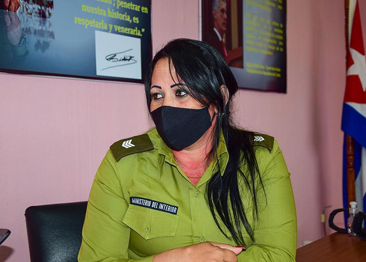 Capitana Airen Toledo Peña, graduada del Curso Superior de la Seguridad del Estado / Foto: Januar Valdés Barrios
