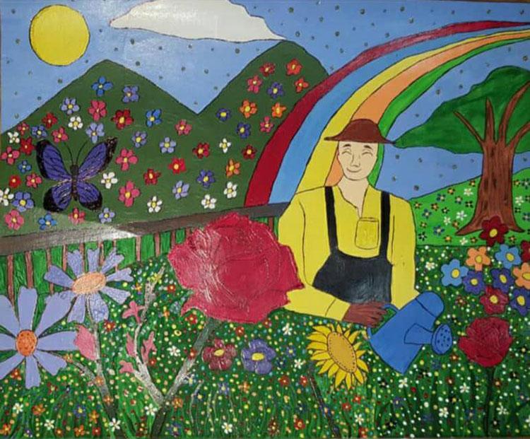 Jardín de colores de Alexander Cándano.