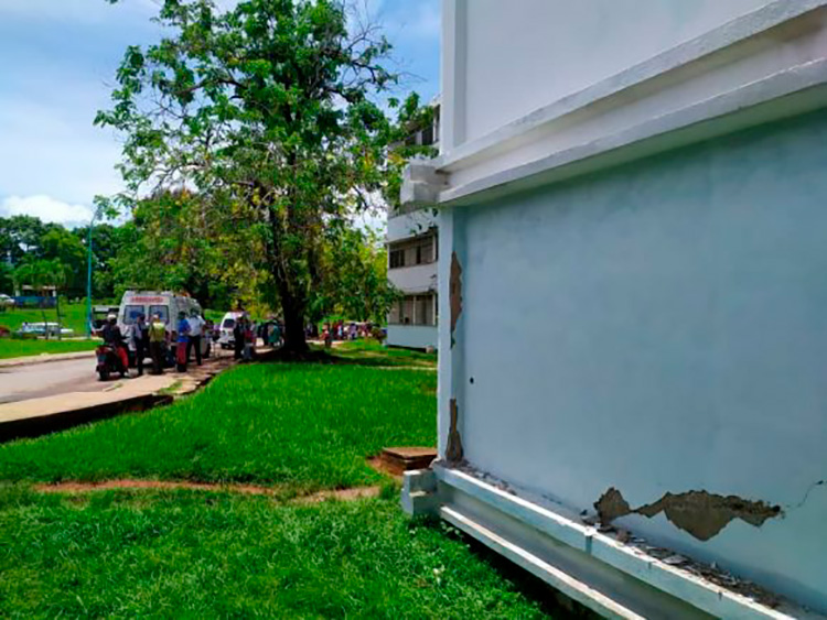 Registran daños en el hospital artemiseño Comandante Pinares. / Foto: Radio Artemisa.