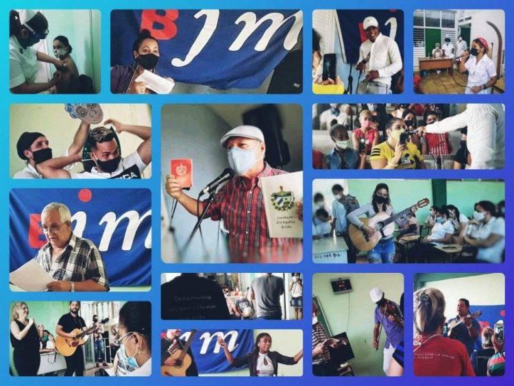 Desde cada sala de vacunación desde la provincia de Pinar del Río la Brigada de Instructores de Arte en conjunto con los Escritores y Artistas del territorio entregan su arte al llamado de la Revolución.