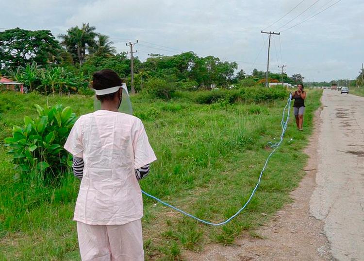 Consecuencia del incremento de casos positivos a la COVID-19 se establecen nuevas zonas rojas en el poblado del Club de Cazadores, Consejo Popular Cayo Largo