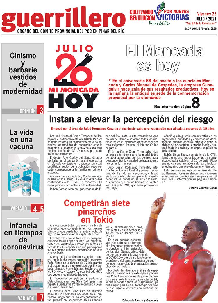 Edición impresa 23 de julio de 2021