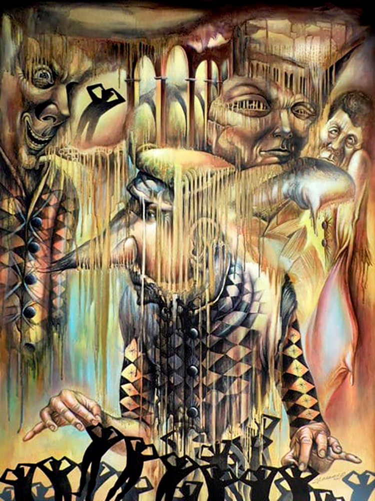 Divergente (óleo-lienzo) de Yasser Curbelo Rego