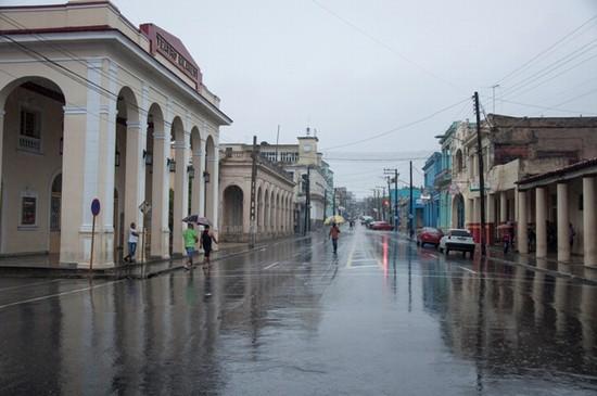 lluvias calle ciudad pinar del rio