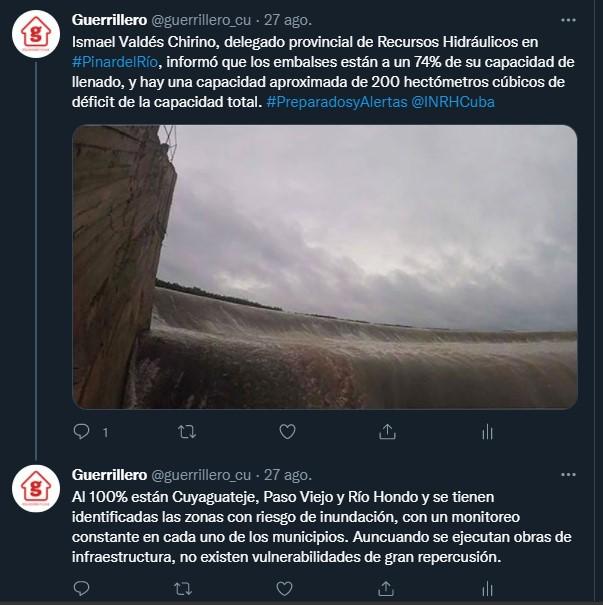 tweet ismael valdes chirino inrh cuba