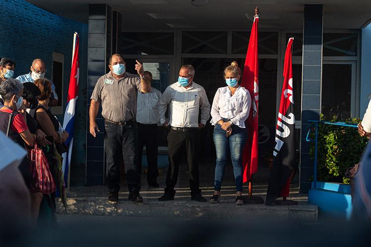 Rubén Yoga Sixto, secretario general de la Central de Trabajadores de Cuba en Pinar del Río.